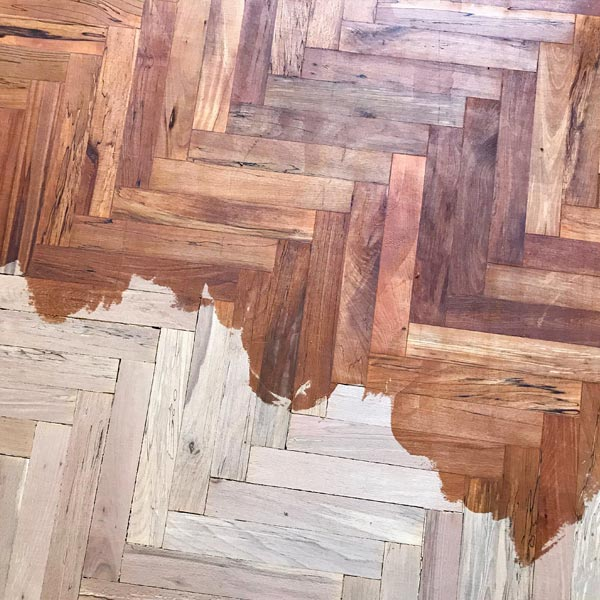 Wood floor refinishing services in Waterford.